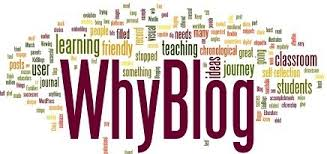 Why Did I Start This Blog?                       By Patty MacDonald